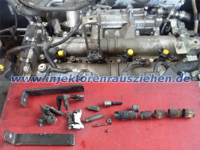 Snapped                                                           and welded                                                           injector                                                           removed from                                                           Fiat Ducato                                                           with 3.0 JTD                                                           Euro 5 engine